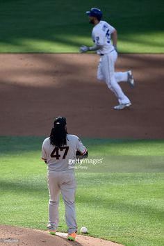 Eric Hosmer, KC, rounds the bases on Johnny Cueto, SF//July 12, 2016 All-Star Game at SD