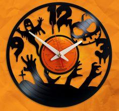 Funny Halloween :) - custom vinyl clock