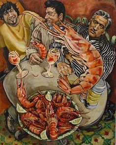 Men with Prawns Belinda Eaton