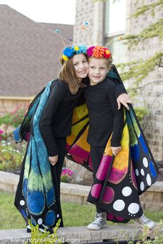 How to make a Large Wing BUTTERFLY Costume   via www.makeit-loveit.com