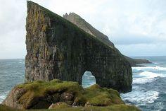 Tindhólmur, Faroe Islands //// Vágar - Drangarnir - Tindhólmur by Erik Christensen, Porkeri, via Flickr