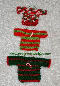 Posh Pooch Designs Dog Clothes: Mini Sweater Ornaments Crochet Pattern