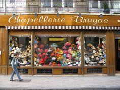 Hat shop, Dijon by lovedaylemon, via Flickr