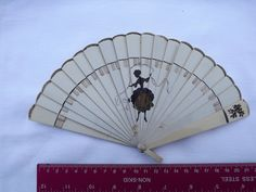 Vintage, Fan, Figure, Dancing Lady, Love Token, Home Decor, Silhouette, Valentine, Gift, Cream, Plastic, Celluloid by DecadentAndFabulous on Etsy