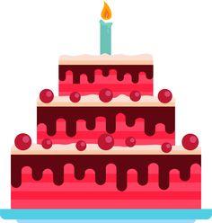 Cake Birthday #FlatDesign