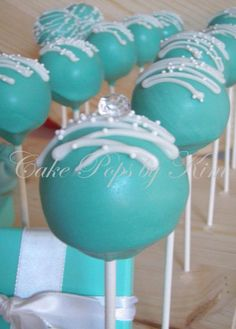 Tiffany cake pops, bridal shower idea- or for anything really... I just love cake pops!