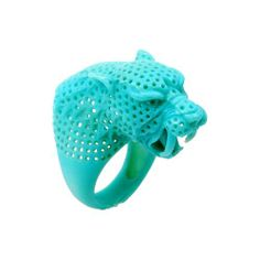 Wax carved leopard ring...♡