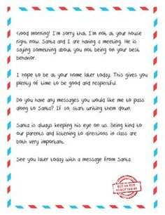 Letter From Elf to Naughty Kid - Free Printable. When your child isn't being good, it's time to bring in the big guns... Santa. #ElfontheShelf is only for good kids at our house. Otherwise, Santa gets an earful from the elf.