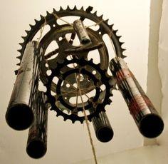 Recycled bike parts /Wind Chimes - my Handmade Registry Welding Projects, Diy Projects, Metal Projects, Diy Wind Chimes, Bicycle Art, Bicycle Decor, Walk In Pantry, Suncatchers, Yard Art