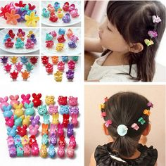 lil designs --10x Girl Cute  Assorted Plastic Lovely Mini Hair Claw Clips Clamp For Kids Gifts