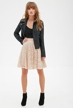 Floral Lace A-Line Skirt | FOREVER21 - 2000099428