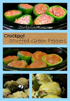Crockpot Green Stuffed Peppers are amazing! Makes things a bit more easier in the crock pot :)