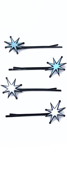 Kampy Starbursts Bobby Pins - Unique Vintage - Prom dresses, retro dresses, retro swimsuits.