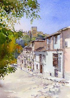 Calle-Victoria, Granada, by Margaret Merry