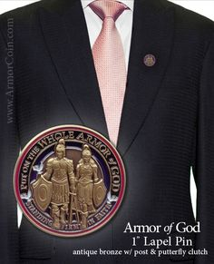 $7.95 Love this Armor of God pin.
