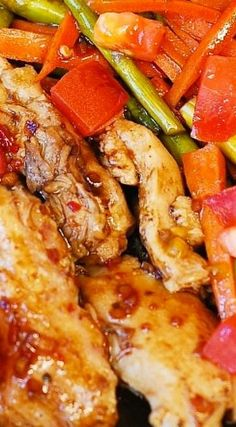 Balsamic Chicken with Asparagus and Tomatoes
