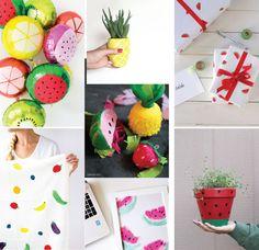 Poppytalk: 20 Insanely Cute Tutti Fruiti DIYs