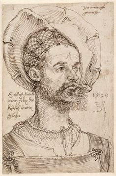Brustbild des kaiserlichen Hauptmanns Felix Hungersperg 1520