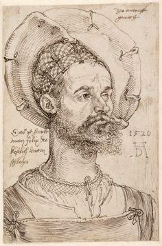 Brustbild des kaiserlichen Hauptmanns Felix Hungersperg1520  Albrecht Durer