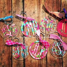 Hey, I found this really awesome Etsy listing at https://www.etsy.com/listing/235618543/lilly-pulitzer-monogrammed-keychain