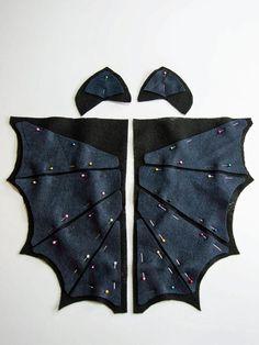 Bat Hoodie Costume - Wings