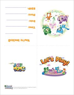 LeapFrog Printable Invitation - Scout & Friends