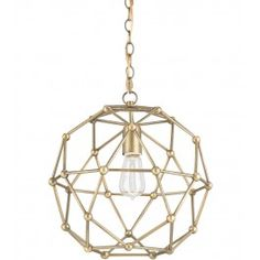 Currey+&+Company+-+9704+-+Percy+1+Light+Small+Chandelier+with+Antique+Brass+Finish+Lamps.com