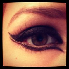 My catwoman eye makeup this Halloween! Did exaggerated contouring and highlighting.. Ended up looking great!