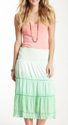 Chaudry Ombre Crocheted Dress/Skirt