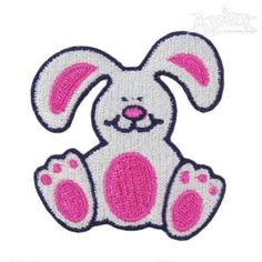 "Rabbit Bunny Sitting Embroidery Design. Great machine sewing pattern for Easter or spring Size: 2.31"" x 2.17"""