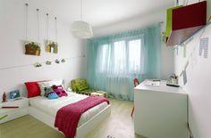 Голубые шторы для современной детской комнаты
