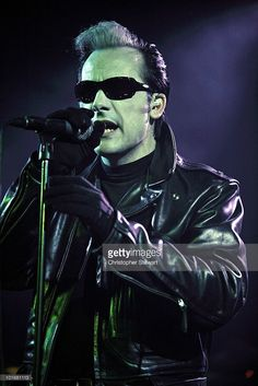 Dave Vanian of The Damned performs on stage at Manchester University on June 5, 2010 in Manchester, England.