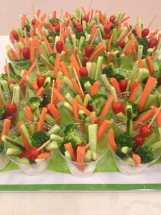 Veggie Cups tomato broccoli celery carrot dip ranch cucumber
