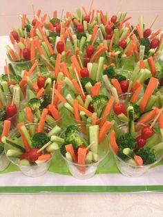 Veggie Cups tomato broccoli celery carrot dip ranch cucumber