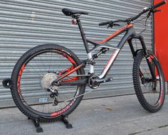 Here's one we don't see every day; a 2015 Specialized S-Works Enduro 650b. With a FACT 11m carbon frame, carbon SRAM brakes, carbon Roval wheelset, S-Works carbon cranks and handlebars, this is a very lightweight MTB. It's one of the nicest MTB's we've seen and is bound to be enjoyed by the lucky rider it's off to.
