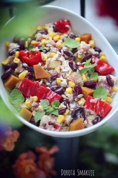 Easy Black Bean Salsa recipe on Splendry Mexican Quinoa Salad, Mexican Salads, Mexican Food Recipes, Healthy Recipes, Ethnic Recipes, Healthy Foods, Vegetarian Mexican, Simple Recipes, Healthy Eats
