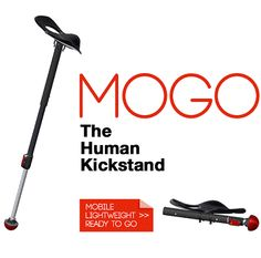 Introducing Mogo – the Kickstand for Humans! Pre-Order Now and Save Fold Up Chairs, Ready To Go, Cool Gadgets, Wish, Cool Stuff, Edc, Unicorn, Gift Ideas, Store