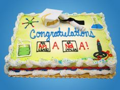Let Schaefer's Foods help give your graduate a special cake to remember on their big day. Chemistry Gifts, Bakery, Graduation, Food And Drink, Foods, Drinks, Desserts, Food Food, Drinking