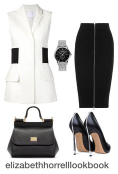 LIZ by elizabethhorrell on Polyvore featuring Alexander Wang, T By Alexander Wang, Casadei, Dolce&Gabbana and Emporio Armani