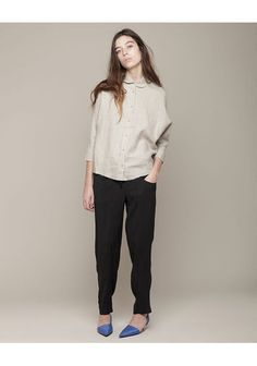 Acne   Joy Linen Shirt   La Garçonne