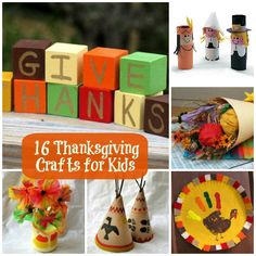 16 Thanksgiving Crafts for Kids