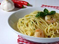 Spaghetti aglio e olio con scampi - Italienische Rezepte - Italienische Küche - Italienisch Kochen