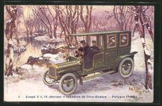 Schöne AK Auto DE Dion Bouton IM Schnee