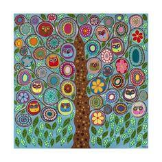 Giclee Print: Owl Party by Kerri Ambrosino : 16x16in
