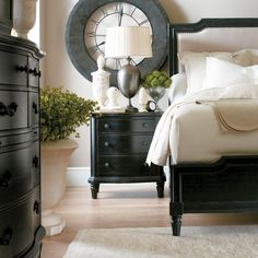European Cottage Upholstered Bed