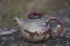 """Teapot of the series """"Another world"""". 1 liter. $86,00. Raku ceramics. Raku roasting. Чайник из серии """"другой мир"""". Объем 1 литр. Восстановительный обжиг раку."""
