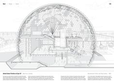 """Studying the """"Manual of Section"""": Architecture's Most Intriguing Drawing,United States Pavilion at Expo '67 by Buckminster Fuller and Shoji Sadao (1967). Published in Manual of Section by Paul Lewis, Marc Tsurumaki, and David J. Lewis published by Princeton Architectural Press (2016). Image © LTL Architects"""