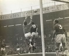 Birmingham 3 Liverpool 1 in April 1964 at St Andrews. Liverpool keeper Tommy Lawrence comes to catch this cross Birmingham City Fc, St Andrews, Hercules, Saints, Blues