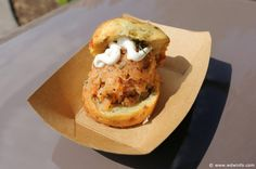 United Kingdom Pavilion - The Buttercup Cottage - Potato, Chive and Cheddar Cheese Biscuit with Smoked Salmon Tartare and Sour Cream