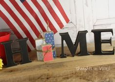 Interchangeable Home Letters {Firecrackers} - what a cute idea!